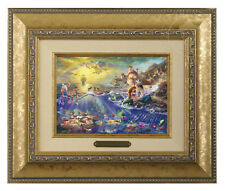 Thomas Kinkade Disney's Little Mermaid Framed Brushwork (Gold Frame)