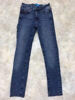 M.i.h Women's Blue Medium Wash Bodycon High Rise Stretch Skinny Jeans Sz 25
