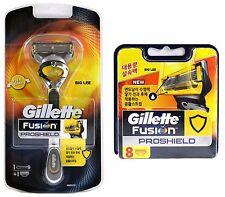 New Gillette Fusion PROSHIELD 1 Razor Handle + 9 Blades Cartridges