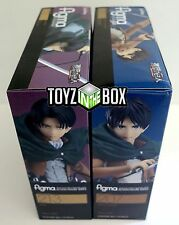 "In STOCK Good Smile Figma ""Levi + Eren Yeager"" SET Attack on Titan Action Figure"