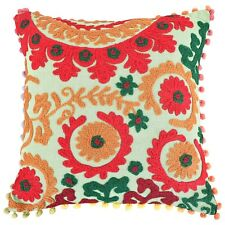 "16""x16"" Suzani Pillow Cases Indian Embroidered Cushion Cover Decorative Pillows"