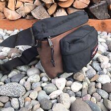 EastPak VTG Leather Nylon Bag Brown Pack Fanny Side Waist Adjustable USA Made