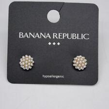 pearl post stud earrings for women banana republic jewelry cute gold tone faux