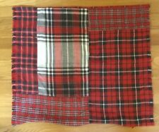 "NEW Pottery Barn Landon Patchwork Plaid Pillow Cover 24"" RED"