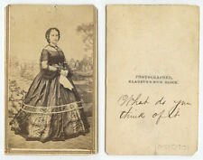 CIVIL WAR ERA LADY IN BEAUTIFUL LONG DRESS, CDV STUDIO PORTRAIT