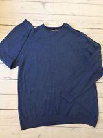 Next Jumper XXL Blue Cotton Blend Crew Neck Pullover Long Sleeve Work Office