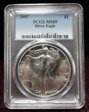 1987 PCGS MS69 AMERICAN EAGLE Silver Dollar Coin