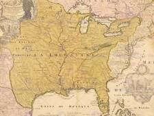 MAP ANTIQUE SENEX 1721 LOUISIANA MISSISSIPPI LARGE REPLICA POSTER PRINT PAM1203