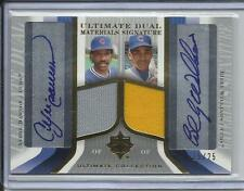2004 UD ANDRE DAWSON & BILLY WILLIAMS GAME WORN JERSEY & AUTO #D15/25 CUBS