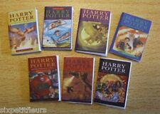 Miniature set of 7 harry potter books CHOOSE 1:12th 1:24th scale KIT dolls house