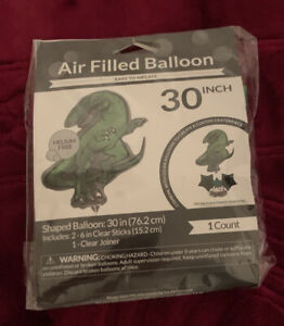 Air Filled Balloon-Dinosaur shape 30 Inch Easy To Inflate Metallic /New