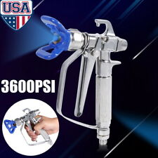 Stainless Steel 3600Psi High Pressure Airless Paint Spray Gun &Tip Guard Sprayer