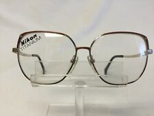 Vintage Nikon TITEX Eyeglasses Sunglasses Gold TITANIUM Red Accents