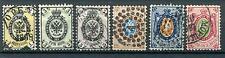 IMPERIAL RUSSIA YR 1858-64,SC 5-10,MI 5-11,USED,NO WMKS, PERF 12-1/2, WOVE PAPER