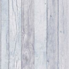 Grandeco Wallpaper - Luxury Wood Panel Effect - Textured Vinyl - Blue  - A17403