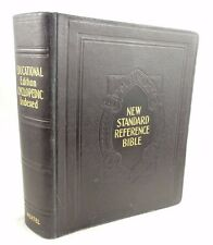1936 Reference Bible for School & Library, family bible size, Red Letter edition