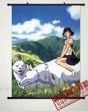 Anime Princess Mononoke Home Cosplay Decor Poster Wall Scroll 40*60cm