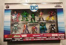"Cast Nano MetalFigs DC Comic Figures 10 Pack Collector's Set: ""NEW"""