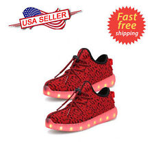 Unisex 7 LED Luminous Light Lace Up Sportswear Sneaker Casual Shoes Men Womens