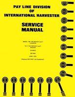 International 100 125 Series C , E Loader Td-7 TD-8 Dozer Service Manual Tractor
