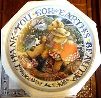 Royal Doulton Feines China Porzellan Teddy Platte Dankeschön für Erde Schönheit