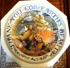 Royal Doulton Fine Bone China Teddy Plate Thank you for Earth's Beauty