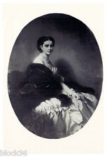 Vintage Russian postcard Portrait of Sofia Naryshkina by Franz Winterhalter