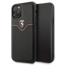 FERRARI Off Track Collection Leder iPhone 11 Schutzhülle Back Case Schwarz