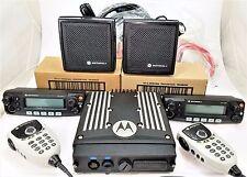 Motorola XTL2500 UHF R2 450-512 MHz P25 Radio Dual head Advanced Mic set ALIGNED