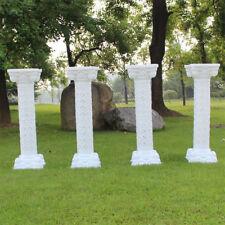 2X Celebration Plastic Props Roman Pillar Greek Column Pedestal Wedding Party