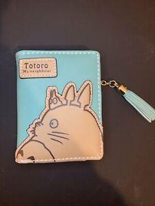 Totoro My Neighbour ghibli Apple Green  small bifold compact purse wallet Tassel