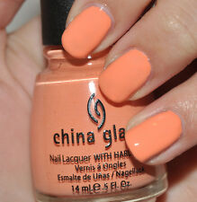 CHINA GLAZE nail lacquer polish with hardeners in 868 peachy keen