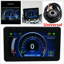 Motorcycle ATV Full LCD Screen Speedometer Digital Odometer One-touch Tachometer