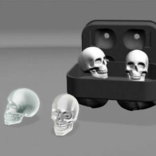 Skull Shape 3D Ice Cube Mold Maker Bar Party Silicone Trays Chocolate Mold Gift