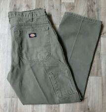 DICKIES MENS RELAXED FIT CARPENTER WORK PANTS SIZE 34X30 GREEN