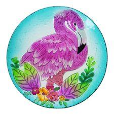 """Flamingo Bird Bath Bowl 18"""" Beach Outdoor Garden Decor"""