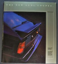 1986 Audi Coupe Catalog Sales Brochure GT Quattro Excellent Original 86