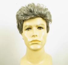 Perruque homme 100% cheveux naturel gris poivre et sel ref XAVIER 44