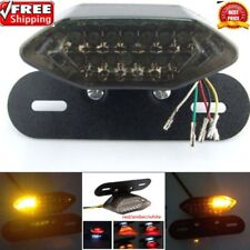 Smoke 20LED Motorcycle Turn Signal Brake License Plate Integrated Tail Light LS