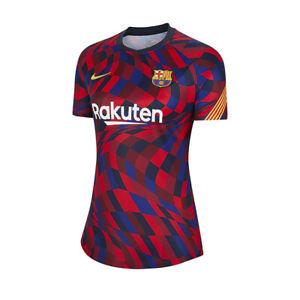 Nike FC Barcelona Official Pre Match 2020/1 Jersey Soccer Womens - D5836-658