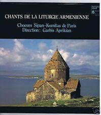 LP ARMENIE CHOEURS SIPAN KOMITAS PARIS CHANTS DE LA LITURGIE ARMENIENNE