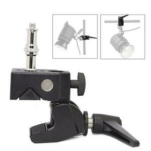 Super Clamp with 1/4 and 3/8 Thread Stud for Photo Studio Cameras etc