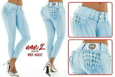 Women ene2 pantalon levanta cola butt lift  jeans push up colombiano size3usa