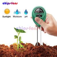 3 in1 PH Tester Soil Water Moisture Light Testing Meter for Garden Plant Flower