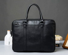 AU Vintage Mens Leather Business Handbag Briefcase Laptop Shoulder Messenger Bag