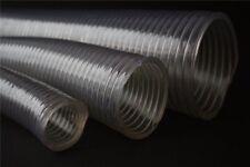 """Flexibler PVC-Saugschlauch 3/8"""" 1/2 3/4 1 - 4 Zoll Spiralschlauch Förderschlauch"""