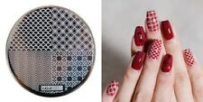 Nail Art Stamping Plates Image Plate Decoration Mermaid Zig Zag Chequered hehe05