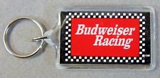 1980's checkerboard BUDWEISER RACING Hydroplane & Auto KEYCHAIN key ring Beer