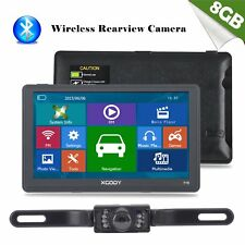 XGODY 8GB 7'' SAT NAV Truck Car GPS Navigation+Wireless Reversing View Camera BT