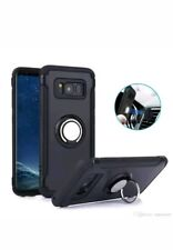 Magnetic Ring Finger Holder Stand Hard Case Cover iPhone X free glass protector